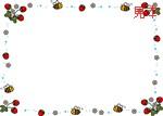 ... Vol.4 いちごとみつばちの飾り枠 : 七夕飾り ちょうちん : 七夕