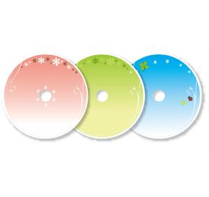 テンプレート cd dvdレーベル 幼稚園 保育園の先生が読むパステル