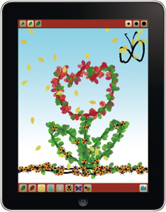 アプリ「絵の上に葉っぱが積もるお絵かき – はっぱ HD」