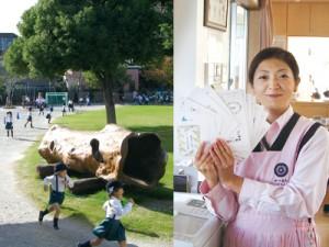 柏さくら幼稚園の朝は外遊びとサーキット遊び( 園庭のかけっこ)で始まる。子どもたちはサーキット遊びを終えると、オルフィスで厚紙に印刷されたカードにシールを貼るのが日課