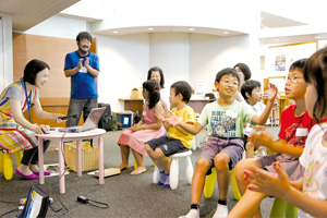 ワークショップでは子どもが伸び伸び活動