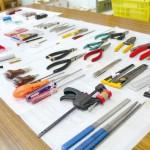 おもちゃの修理で使用する道具類