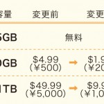 Googleドライブ月額料金(10TB以上省略)