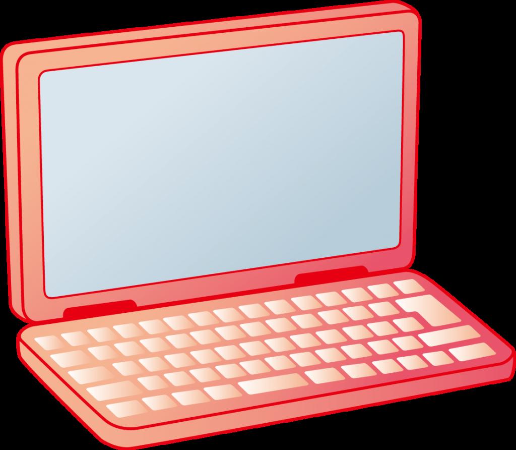 イラスト「ノートパソコン」   幼稚園・保育園の先生が読むパステルit新聞