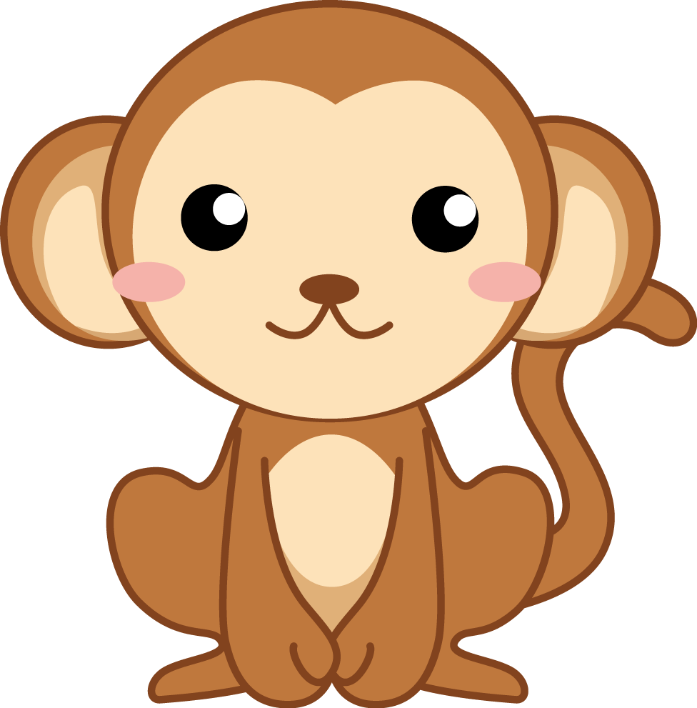 イラスト「サル」 | 幼稚園・保育園の先生が読むパステルit新聞