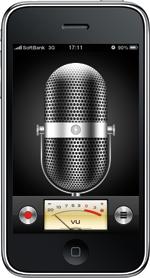 子どもたちの合唱を内蔵マイクで録音し、そのままホームページにも掲載できる。