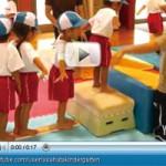 ホームページに掲載中の体操クラブの動画。子どもたちの様子がよくわかる