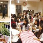 9月28日の神秘な月夜にランチルームで開催された「スーパームーンコンサート」。幼稚園と保育園両チームの職員とその子どもたちが集まり、フルートの音色と交流を楽しんだ