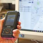 日常のバス送迎における職員間での情報共有にIP無線機を活用。